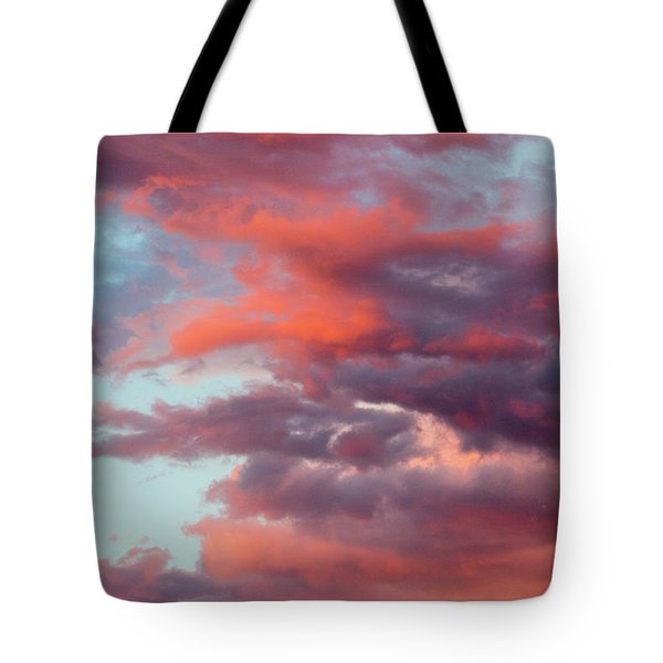 Tote Bag featuring the photograph Stormy Southwest Sunset Vertical by SR Green