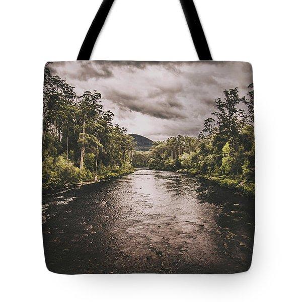 Stormy Streams Tote Bag