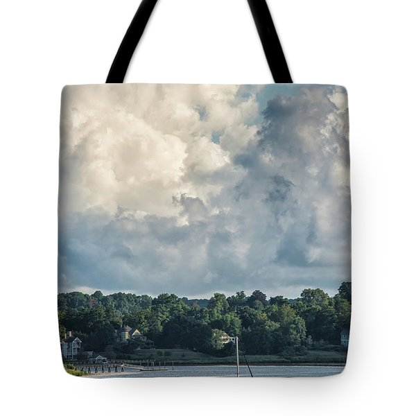 Stormy Sunday Morning On The Navesink River Tote Bag