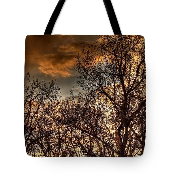 Stormy Sunset 14151 Tote Bag