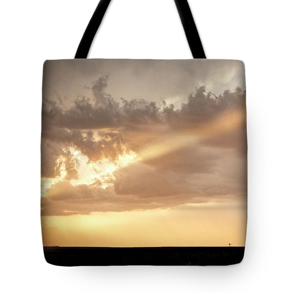 Tote Bag featuring the photograph Stormy Sunset And Windmill 01 by Rob Graham