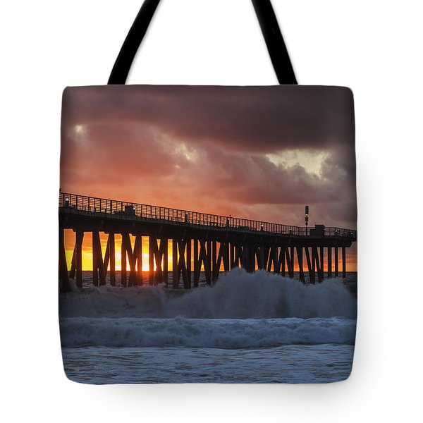 Stormy Sunset Tote Bag