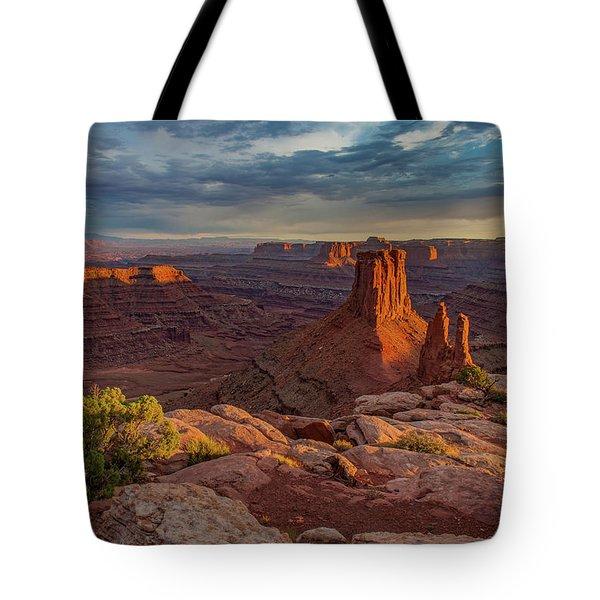 Stormy Sunset - Marlboro Point Tote Bag