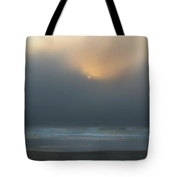 Tote Bag featuring the photograph Stormy Sunset Oregon Coast by Yulia Kazansky