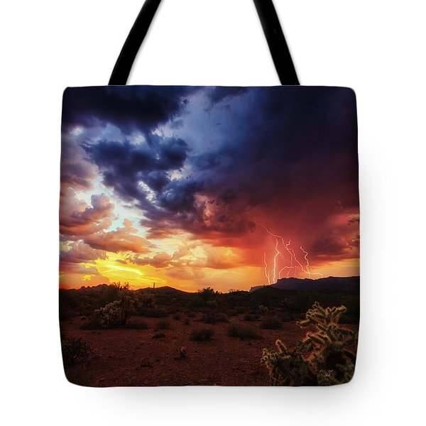 Stormy Twilight Tote Bag