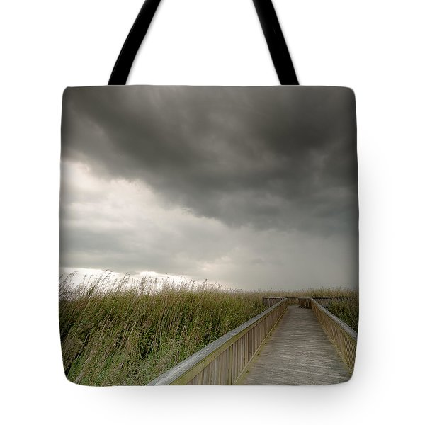 Stormy Walk Tote Bag