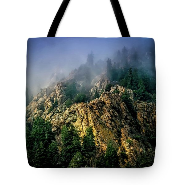 Stormy Wasatch- Fog Tote Bag