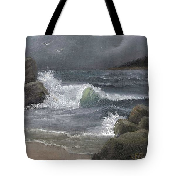 Stormy Waters Tote Bag by Sheri Keith
