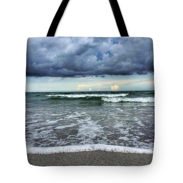 Stormy Waves Tote Bag