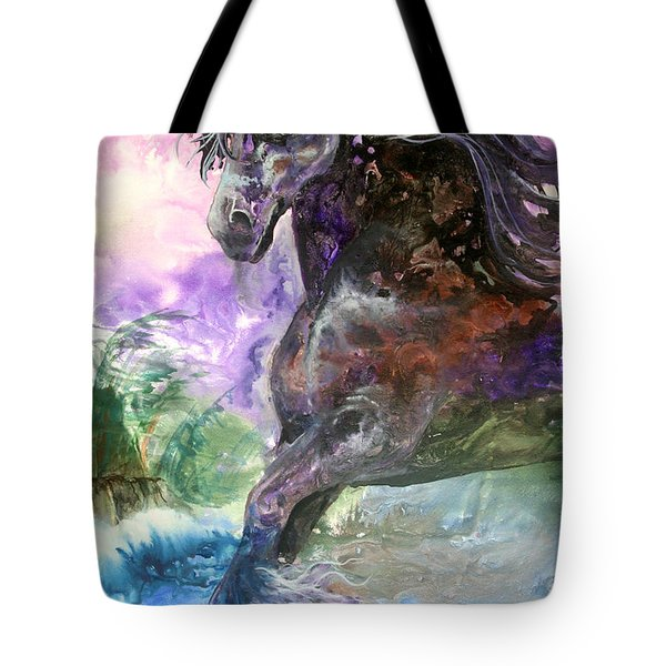 Stormy Wind Horse Tote Bag
