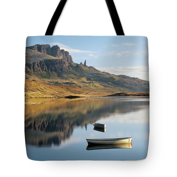 Storr Reflection Tote Bag by Grant Glendinning