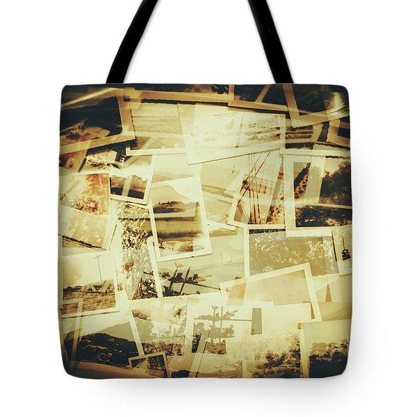 Storyboard Of Past Memories Tote Bag
