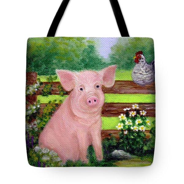 Storybook Pig Tote Bag