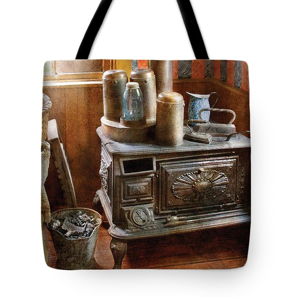 Stove - Remember The Good Ol Days When  Tote Bag by Mike Savad