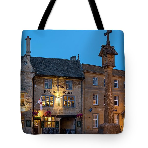 Tote Bag featuring the photograph Stow On The Wold - Twilight by Brian Jannsen