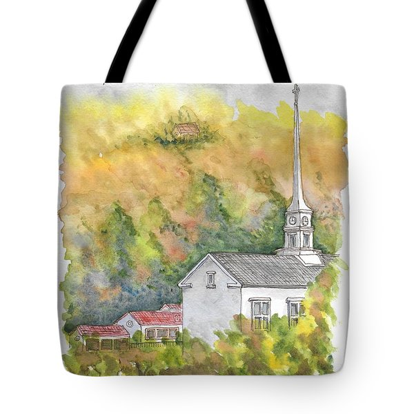 Stowe Community Church, 1839, Stowe, Vermont Tote Bag