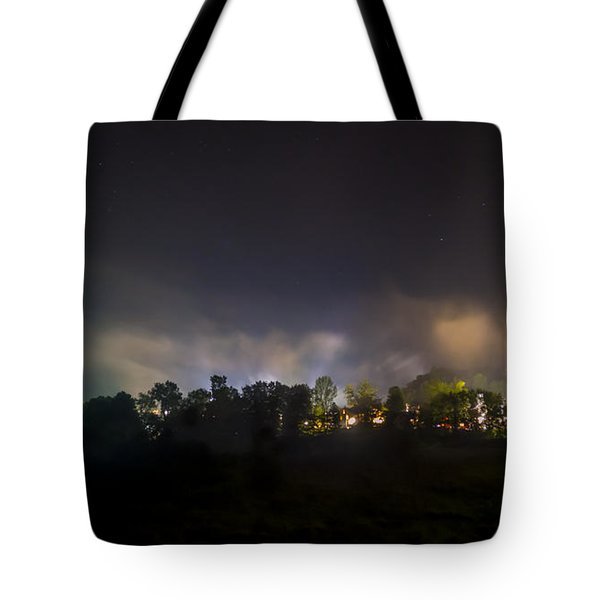 Stowe Vermont After Dark. Tote Bag