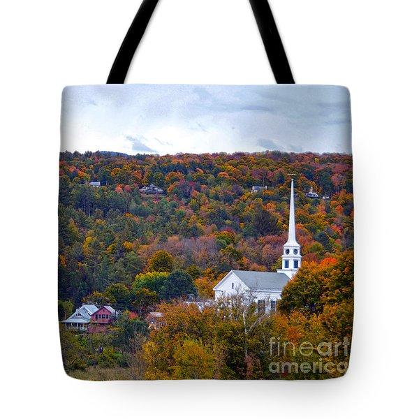 Stowe Vermont In Autumn Tote Bag by Catherine Sherman