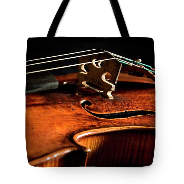 Tote Bag featuring the photograph Stradivarius by Endre Balogh