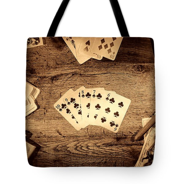 Straight Flush Tote Bag by American West Legend By Olivier Le Queinec