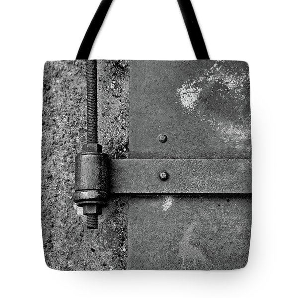Tote Bag featuring the photograph Straight Metal by Karol Livote