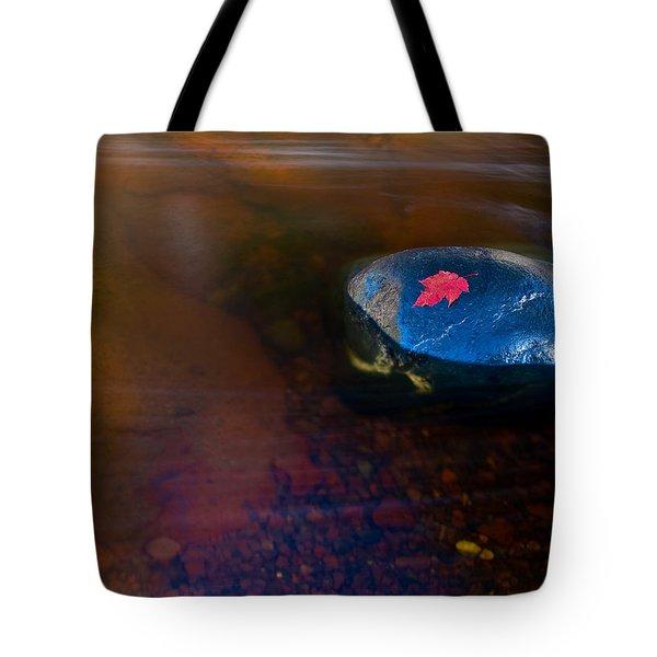 Stranded Leaf Tote Bag