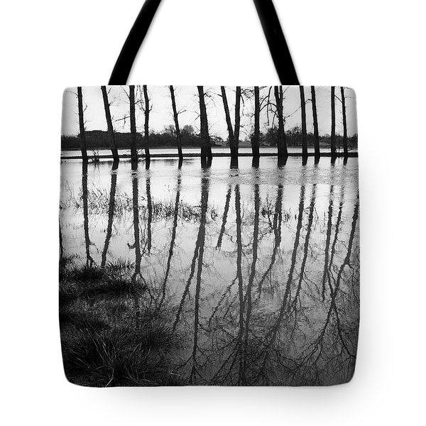 Stranded Trees Tote Bag by Hazy Apple