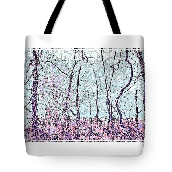 Tote Bag featuring the photograph Strange Trees by Shirley Moravec
