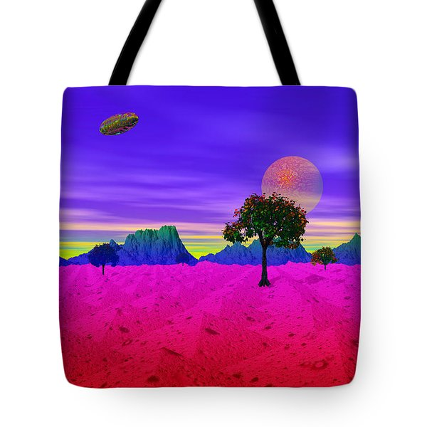 Strangely Place Tote Bag