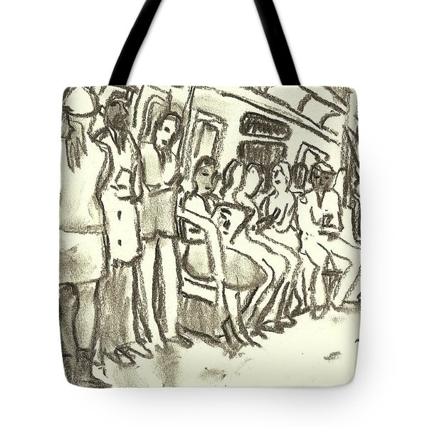 Strap Hangers, Nyc Subway Tote Bag