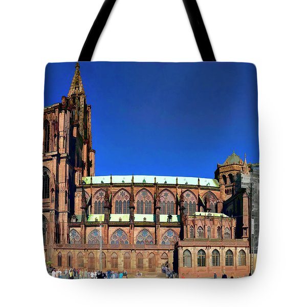 Strasbourg Catheral Tote Bag by Alan Toepfer