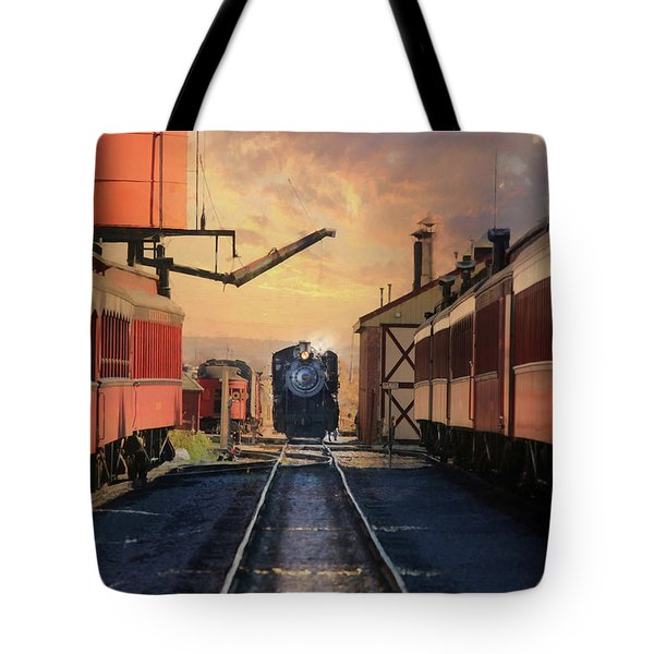 Tote Bag featuring the photograph Strasburg Railroad Station by Lori Deiter