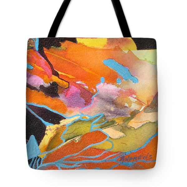 Tote Bag featuring the painting Strata by Rae Andrews