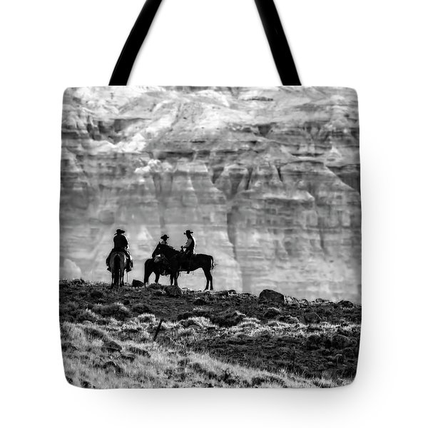 Strategy Meeting In Black And White Tote Bag