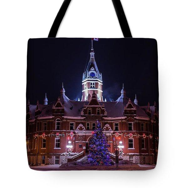 Stratford City Hall Christmas Tote Bag