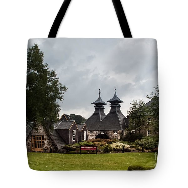 Tote Bag featuring the photograph Strathisla Whisky Distillery Scotland #3 by Jan Bickerton