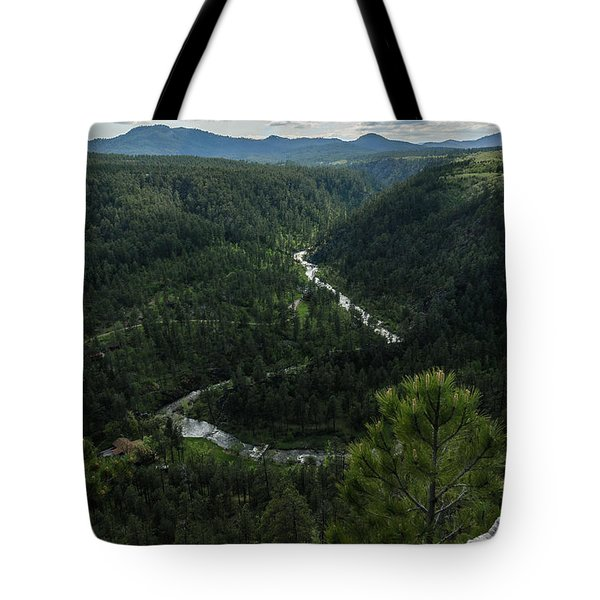 Stratobowl Overlook On Spring Creek Tote Bag