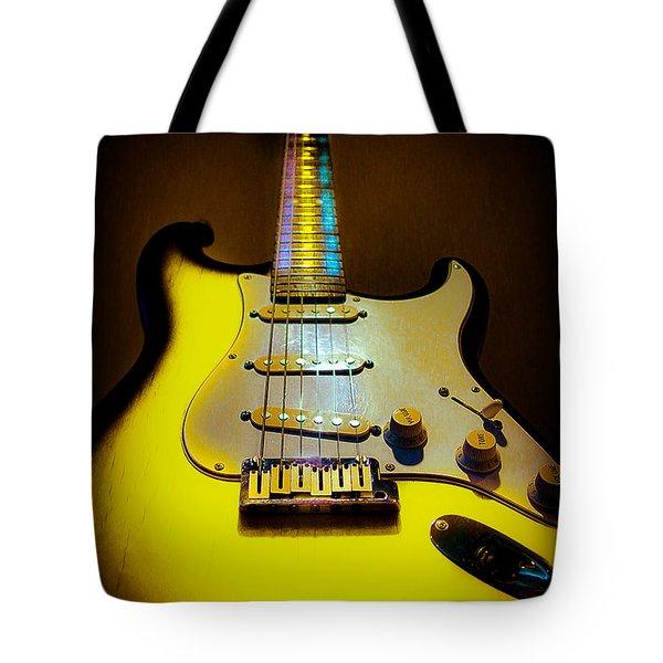 Stratocaster Lemon Burst Glow Neck Series Tote Bag