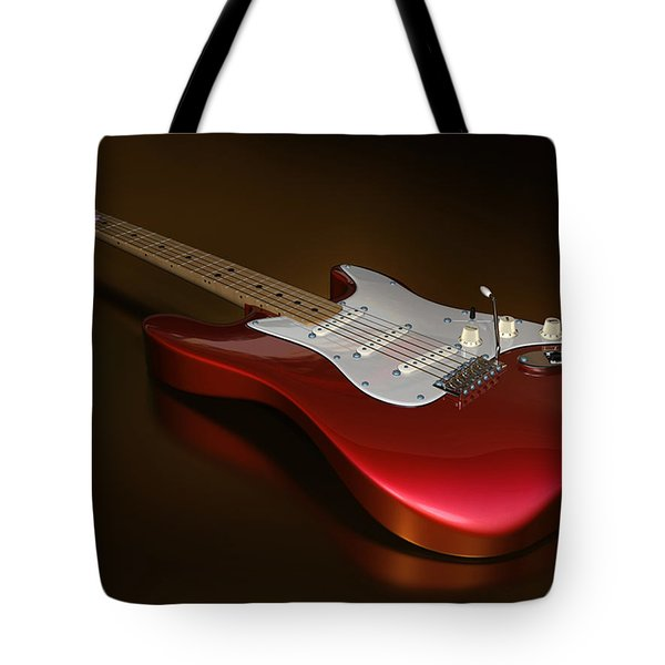 Stratocaster On A Golden Floor Tote Bag