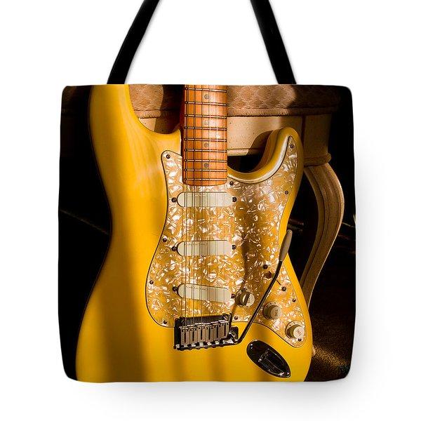 Stratocaster Plus In Graffiti Yellow Tote Bag