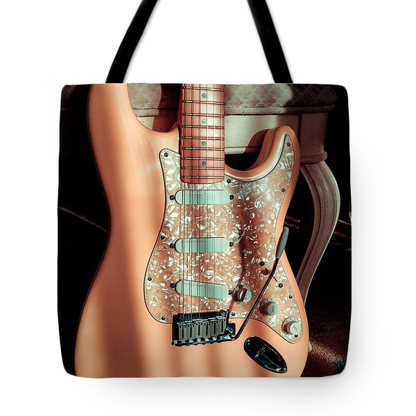 Stratocaster Plus In Shell Pink Tote Bag