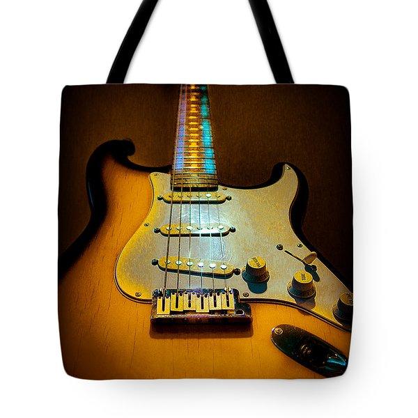 Stratocaster Tobacco Burst Glow Neck Series  Tote Bag