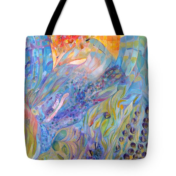 Tote Bag featuring the painting Stratosphere by Linda Cull