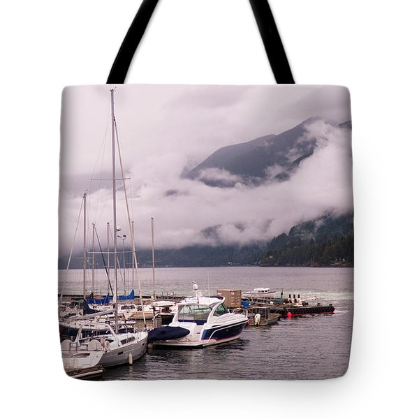 Stratus Clouds Over Horseshoe Bay Tote Bag