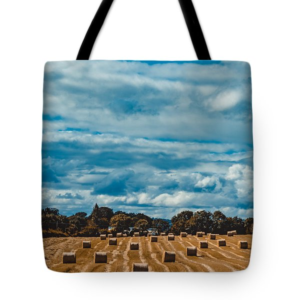 Straw Bales In A Field 2 Tote Bag