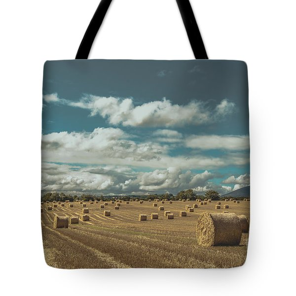 Straw Bales In A Field 3 Tote Bag
