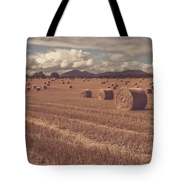 Straw Bales In A Field 4 Tote Bag