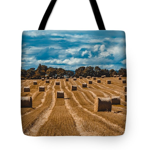 Straw Bales In A Field Tote Bag