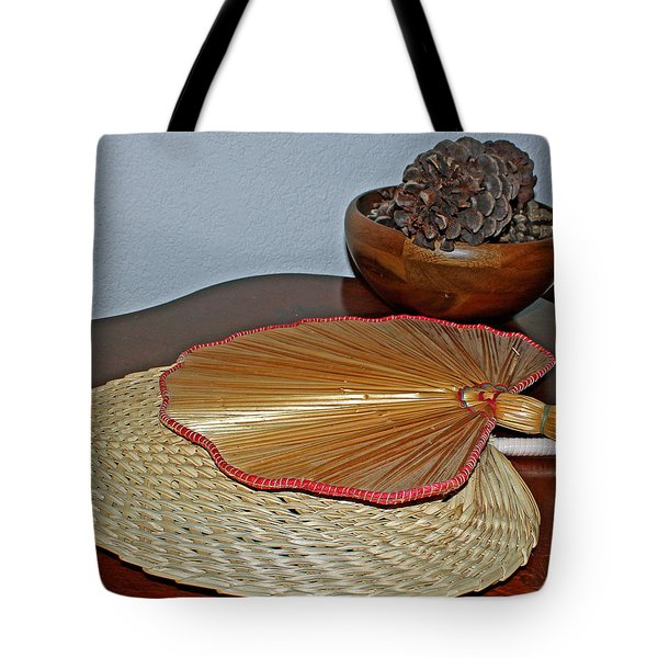 Tote Bag featuring the photograph Straw Fans by Judy Vincent
