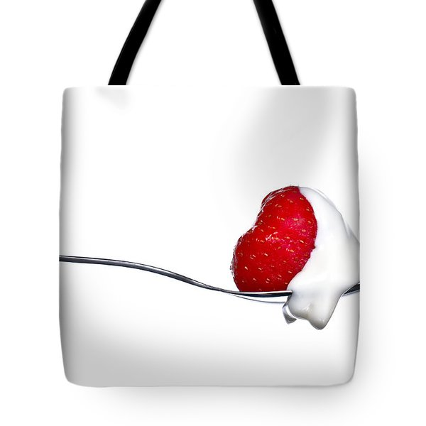 Strawberry And Cream Tote Bag by Gert Lavsen